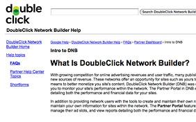 DoubleClick Network Builder