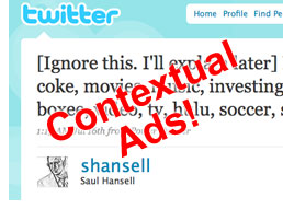 Contextual Ads on Twitter?