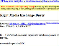 Right Media Exchange on Craigslist