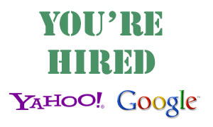 Yahoo and Google Hiring Plans