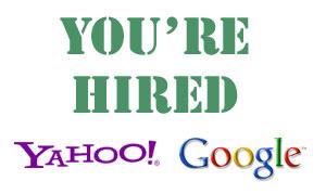 Yahoo and Google Hiring Plans