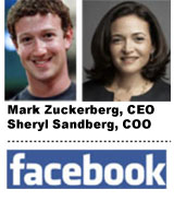 Zuckerberg and Sandberg, CEO, COO
