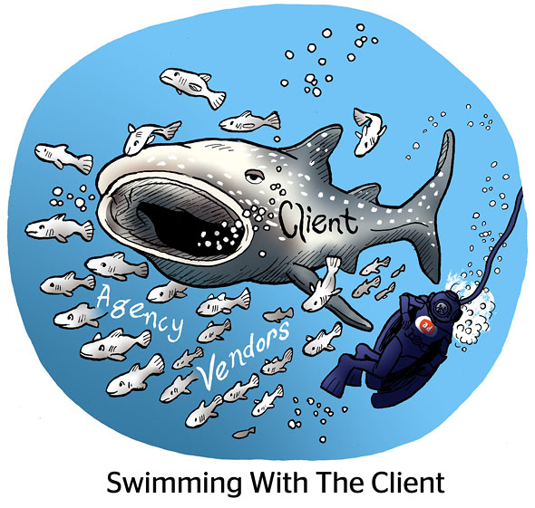 Swimming With The Client