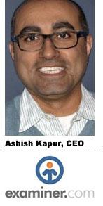 Ashish Kapur, Examiner