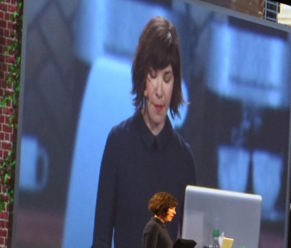 Portlandia's Carrie Brownstein during Adobe Sneaks