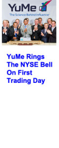 YuMe rings the NYSE Bell