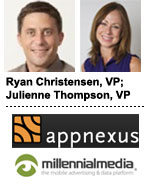 AppNexus' Ryan Christensen and Millennial Media's Julienne Thompson