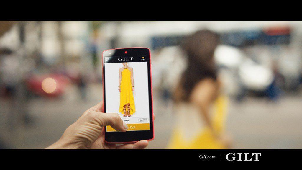 A Gilt TV commercial still