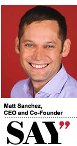 Matt Sanchez SAY MEDIA NEW