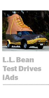 LL Bean test drive iAds