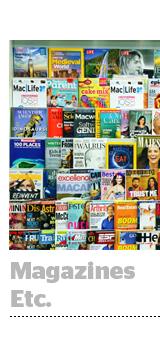 magazines etc