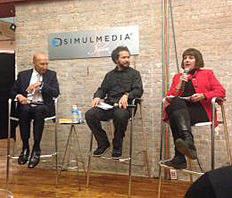 From left: Jack Haber, Colgate; Lee Nadler, MINI USA and Wenda Harris Millard of MediaLink, at Simulmedia Salon series.