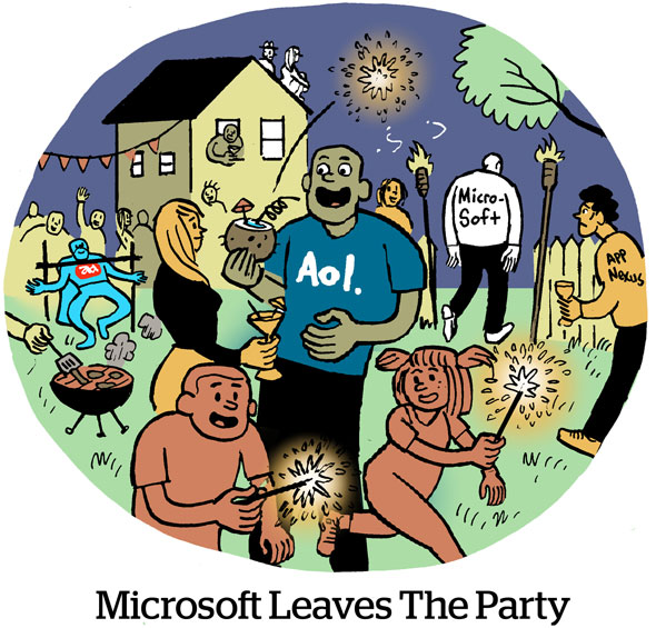 Microsoft Leaves The Party