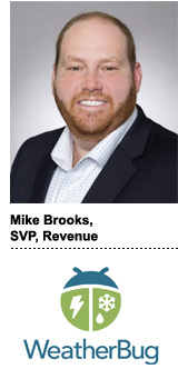 Mike Brooks, WeatherBug's SVP of revenue