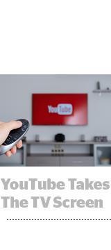 YouTube logo on TV screen