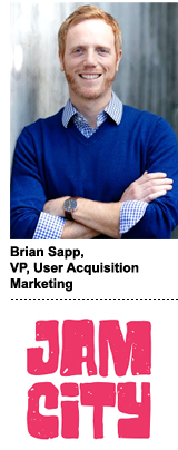 Brian Sapp, Jam City's VP of user acquisition marketing