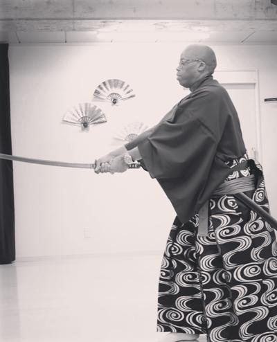Imari Oliver, CEO & founder of Bond & Play, at samurai school in Japan.