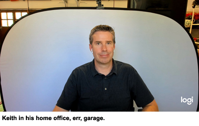 Keith Eadie, VP and GM of Adobe Advertising Cloud and head of product for Adobe Analytics, reporting in from his home office, err, his garage.