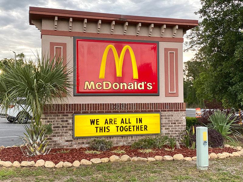 McDonald's pandemic