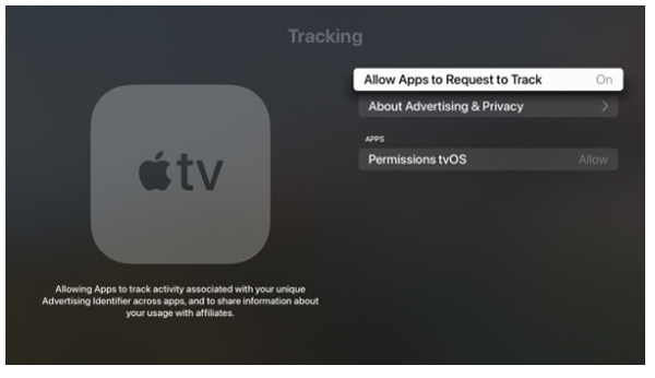 Apple TV tracking consent request