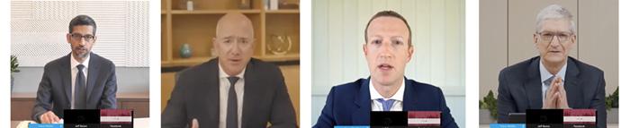 Big tech CEOs – collect 'em all: Sundar Pichai, Jeff Bezos, Mark Zuckerberg and Tim Cook testify.