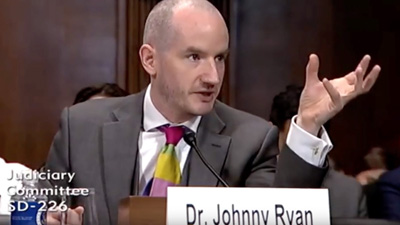 Johnny Ryan testifies before Congress in May 2019.