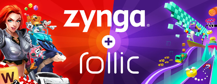 Zynga acquires hypercasual gaming studio Rollic Games.