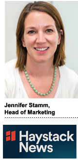 Jennifer Stamm, head of marketing for Haystack News