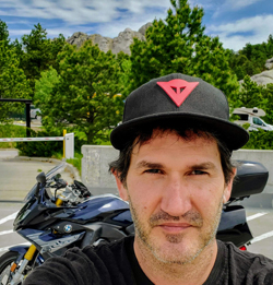 Centro CEO Shawn Riegsecker hits the road on his motorcycle.