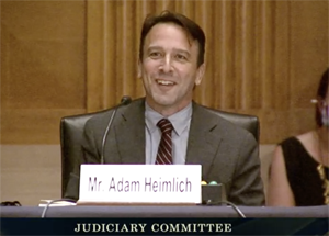 Adam Heimlich, CEO & founder, Chalice, testifying before the Senate antitrust subcommittee on Sept. 15, 2020.