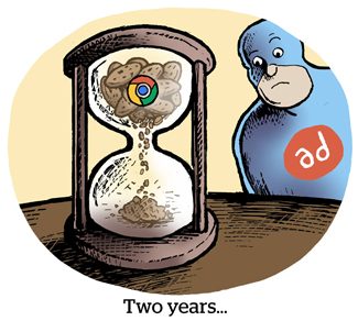 Comic: Two years ...