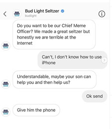 Bud Light on the hunt for a chief meme officer with help from Doing Things Media.