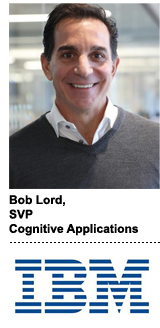 Bob Lord, IBM's SVP of cognitive applications and blockchain
