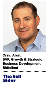 Craig Aron, SVP of growth and strategic business development at Bidtellect