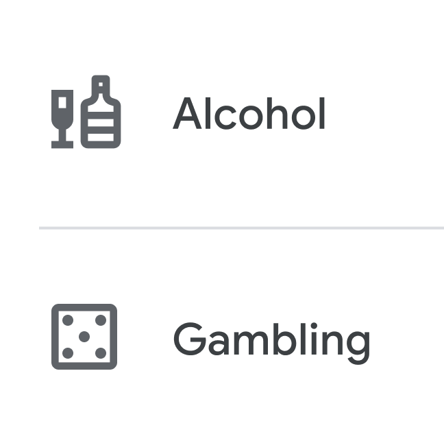 Google is planning to give people the ability to limit the number of alcohol and gambling ads they see through enhanced controls in their ad settings.