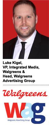 Luke Kigel, VP of Walgreens integrated media and head of the Walgreens Advertising Group