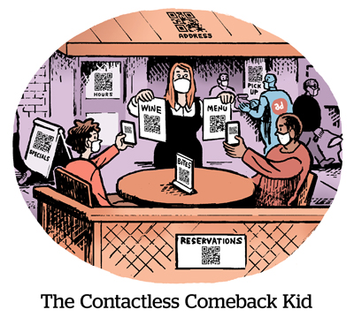 Comic: The Contactless Comeback Kid
