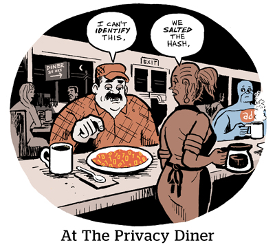 Comic: At the privacy diner.
