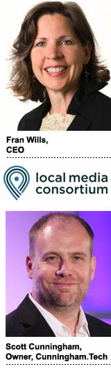 Fran Wills, CEO, Local Media Consortium, and Scott Cunningham, owner, Cunningham.Tech