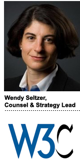 Wendy Seltzer, counsel and strategy lead, W3C