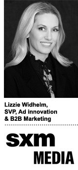 Lizzie Widhelm, SVP of ad innovation and B2B marketing, SXM Media