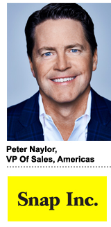 Peter Naylor, Snap's VP of Americas