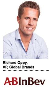 Richard Oppy, VP of global brands for Anheuser-Busch InBev