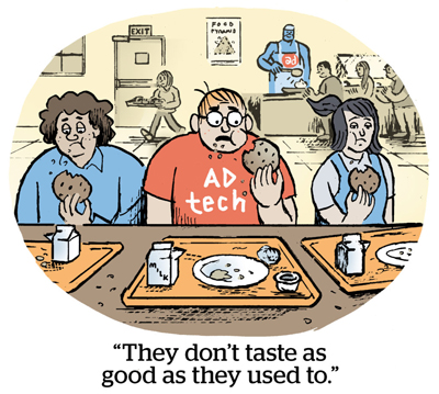 """Comic: """"They don't taste as good as they used to."""""""