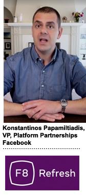 Konstantinos Papamiltiadis (KP), Facebook's VP of platform partnerships