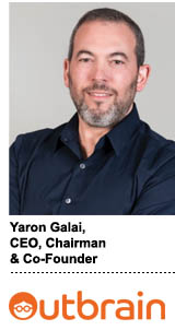 Yaron Galai, CEO, chairman and co-founder of Outbrain