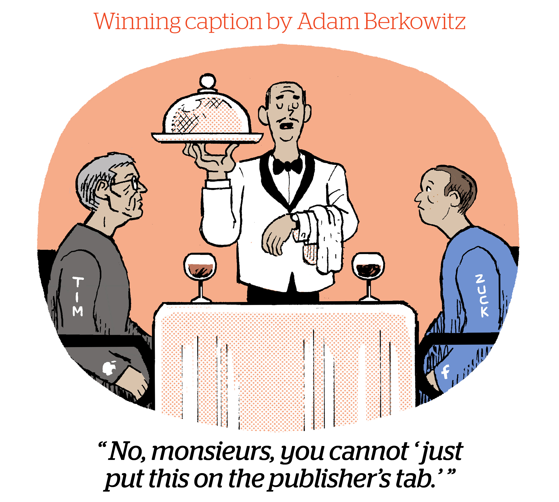 Comic Caption Content Winner: Adam Berkowitz