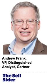 Andrew Frank, VP distinguished analyst at Gartner