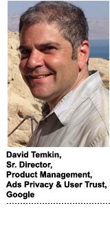 David Temkin, Google's senior director of product management for ads privacy and user trust