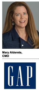 Mary Alderete, Gap brand's CMO